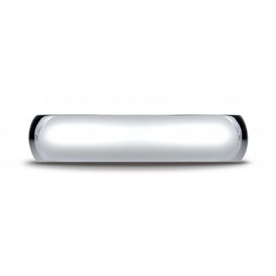 14k White Gold 5mm Slightly Domed Standard Comfort-fit Ring