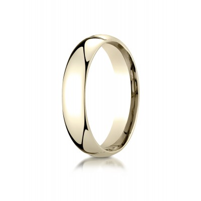 14k Yellow Gold 5mm Slightly Domed Super Light Comfort-fit Ring