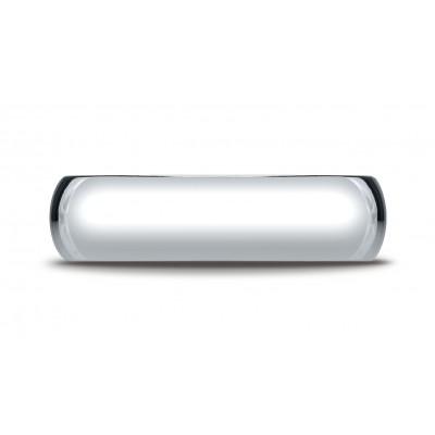 14k White Gold 6mm Slightly Domed Super Light Comfort-fit Ring