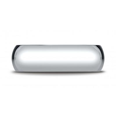 14k White Gold 7mm Slightly Domed Super Light Comfort-fit Ring
