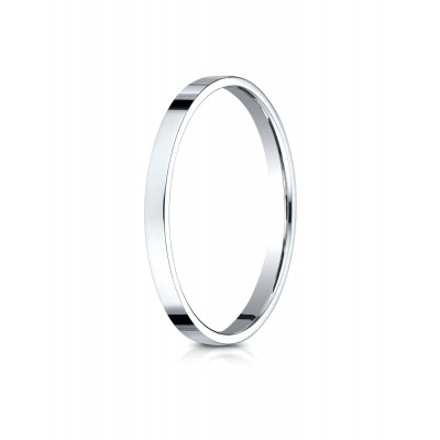 14k White Gold 2.0 Mm Traditional Flat Ring