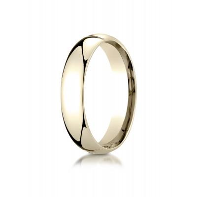 14k Yellow Gold 5mm Slightly Domed Super Light Comfort-fit Ring