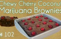 Cannabis Coconut Cherry Brownies Cooking With Marijuana #102 Pot Brownie Recipe