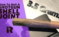 How To Roll A King Size Shotgun Shell Joint (1/8 oz marijuana): Cannabasics #37