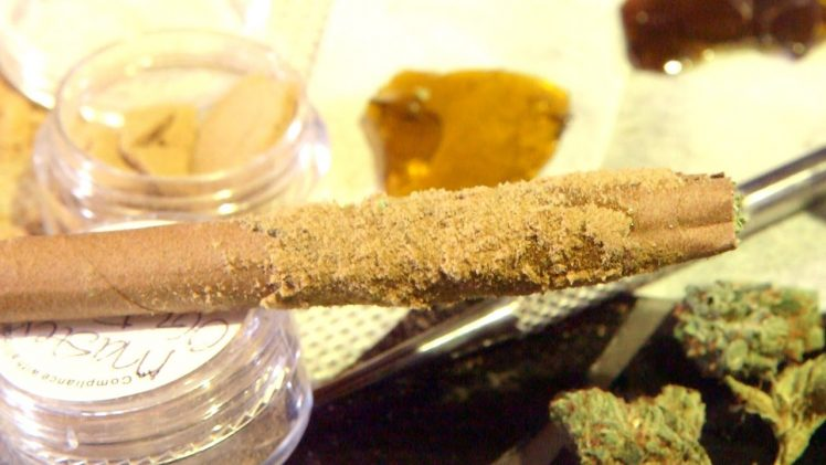 How To Roll A Tarantula Leg (Wax Blunt/ Joint with Kief): Cannabasics #26