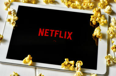 Popcorns and a tablet computer with the Netflix homepage in its screen. The provider of streaming movies and TV series was launched in Spain on October 2015