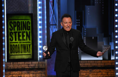 Bruce Springsteen accepts a special Tony award for his solo show Springsteen on Broadway