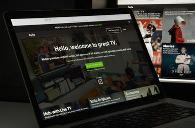 Hulu website homepage. It is an American subscription video on demand service owned by Hulu LLC. Hulu logo visible.