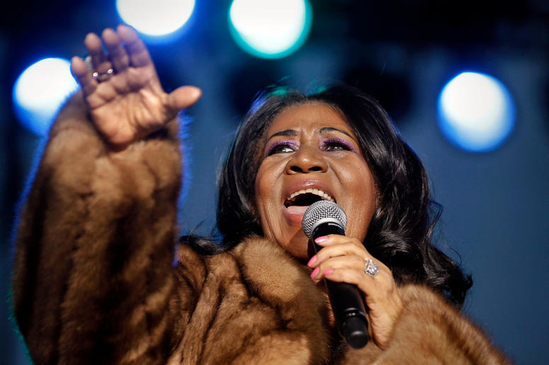 Aretha Franklin performs at the Wisconsin State Fair