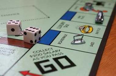 The Monopoly iron game piece is displayed on February 6, 2013 in Fairfax, California.