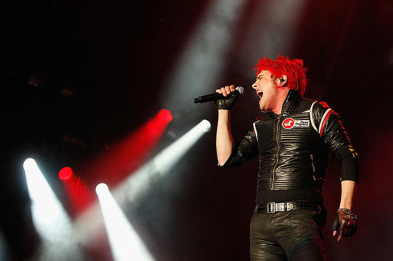 Gerard Way of My Chemical Romance performs live on the Main Stage during day one of Reading Festival 2011 on August 26, 2011 in Reading, England