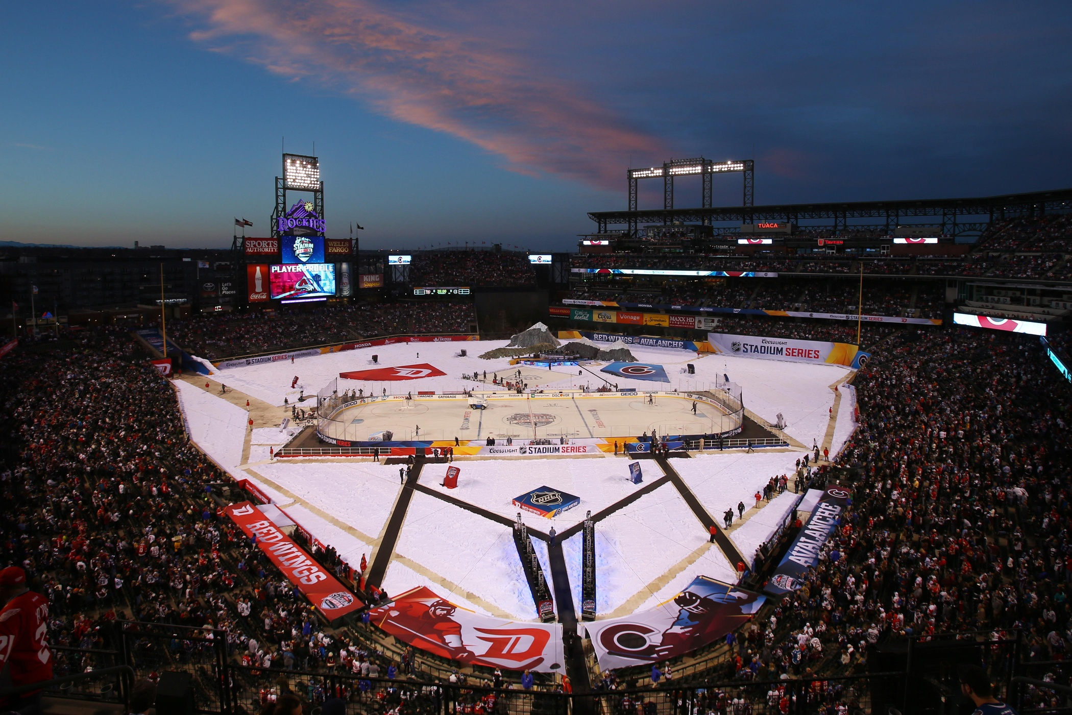 historic stadium series hockey game at coors field pictures ez