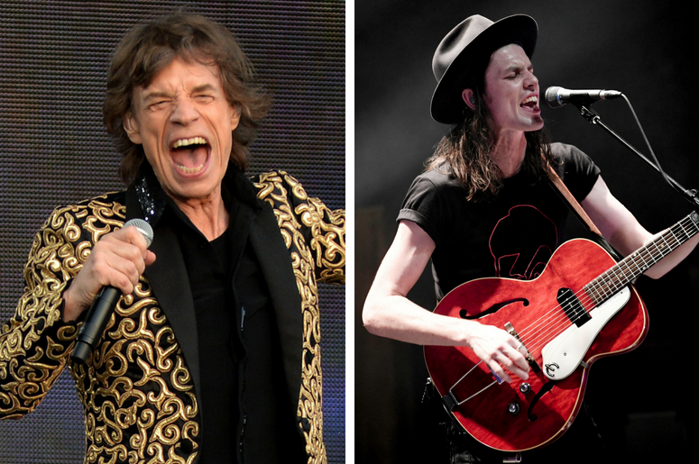 James Bay and Mick Jagger