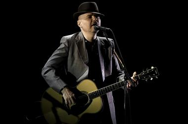 Smashing Pumpkins member Billy Corgan performs at the Broward Center