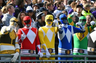 Oct 31, 2015; University Park, PA, USA; Fans pose for a photo while dressed up as the Power Rangers prior to the game against the Illinois Fighting Illini at Beaver Stadium. Penn State won 39-0. Mandatory Credit: Rich Barnes-USA TODAY Sports