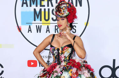 Cardi B at the 2018 American Music Awards at the Microsoft Theatre on October 9, 2018 in Los Angeles, California.