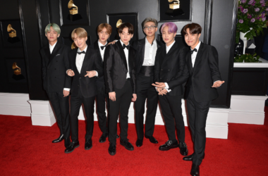 Los Angeles, California - V, Suga, Jin, Jungkook, RM, Jimin, J-Hope, BTS. 61st Annual GRAMMY Awards held at Staples Center
