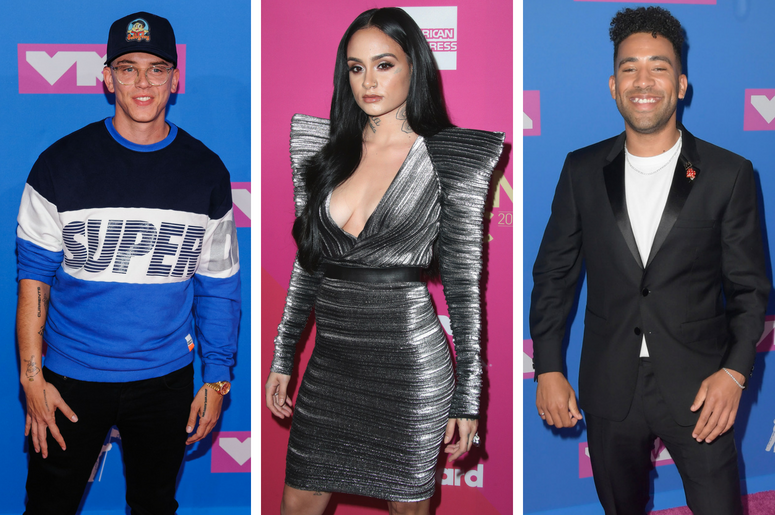 Logic. 2018 MTV Video Music Awards at Radio City Music Hall. / Kehlani at Billboard Women in Music 2017 at the Ray Dolby Ballroom on November 30, 2017 in Hollywood, California. / KYLE.