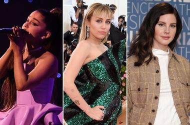 Ariana Grande, Miley Cyrus, and Lana Del Rey