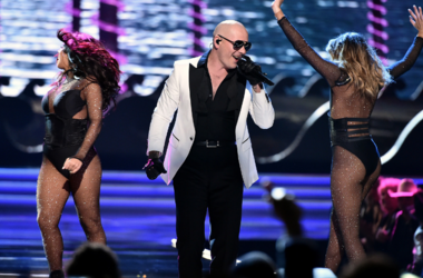 Pitbull performs at the 2017 Miss USA Pageant at the Mandalay Bay Events Center on May 14