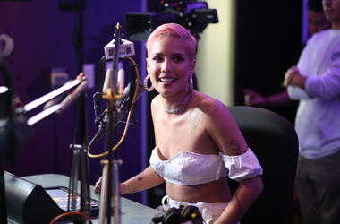 "Halsey stopped by the AMP Radio studio to talk to Booker about her latest single ""Without Me"" and how it allowed her to be open about her break-up with G-Eazy while still keeping her privacy."