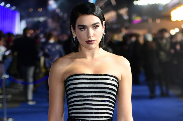 Dua Lipa attending the World Premiere of Alita: Battle Angel, held at the Odeon Leicester Square in London