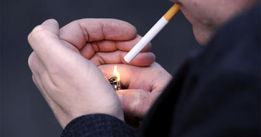 10/14/2016 - PICTURE POSED BY MODEL File photo dated 12/03/13 of a man lighting a cigarette. Half of smokers delay quitting for years because they worry about getting fat, a survey has suggested. (Photo by PA Images/Sipa USA)