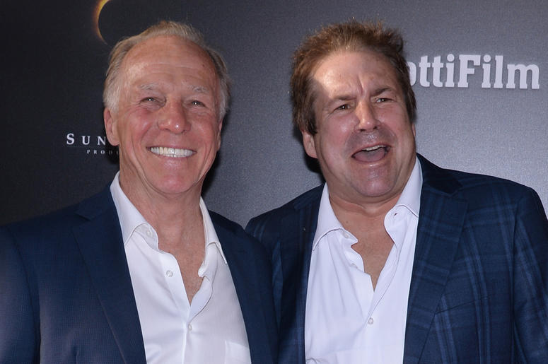 "(L-R) Jackie Martling and John Melendez attend the ""GOTTI"" New York Premiere at the SVA Theatre in New York, NY, on June 14, 2018"