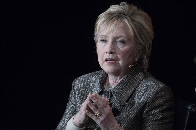 In this April 6, 2017, file photo, former Secretary of State Hillary Clinton speaks in New York. The Justice Department's internal watchdog is expected to criticize the FBI's handling of the Clinton email investigation, stepping into a political minefield