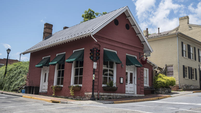 This Saturday, June 23, 2018 photo shows the Red Hen Restaurant in downtown Lexington, Va. White House press secretary Sarah Huckabee Sanders said Saturday in a tweet that she was booted from the Virginia restaurant because she works for President Donald
