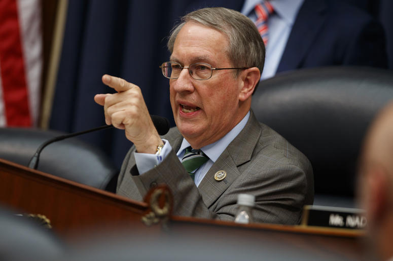 "Chairman of the House Judiciary Committee Rep. Bob Goodlatte, R-Va., questions FBI Deputy Assistant Director Peter Strzok during a hearing on ""Oversight of FBI and DOJ Actions Surrounding the 2016 Election,"" on Capitol Hill, Thursday, July 12, 2018, in Wa"