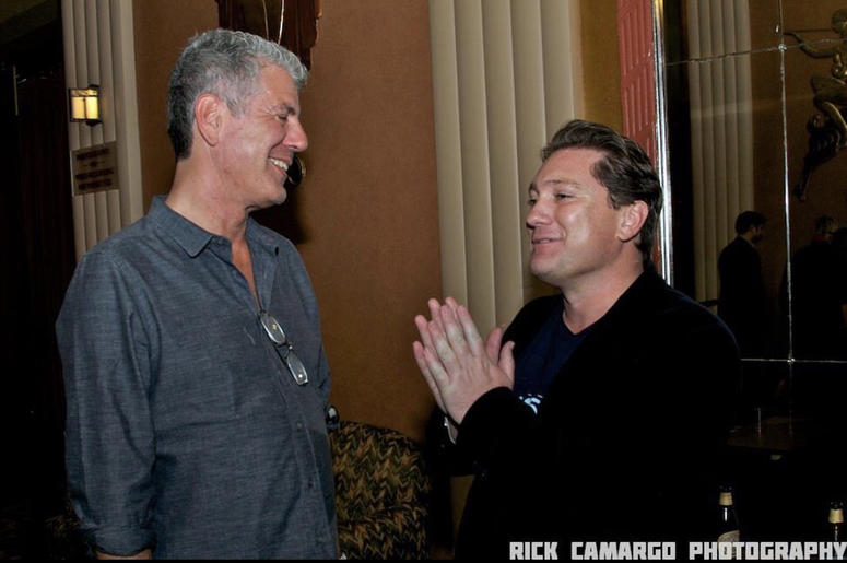 Anthony Bourdain and Liam Mayclem