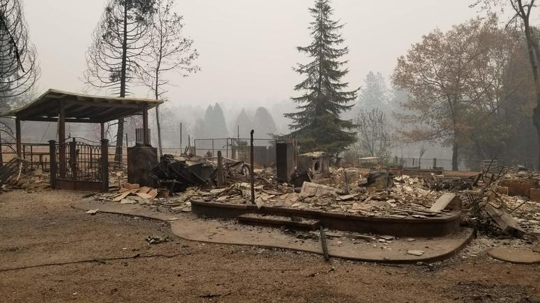 Burned home in Paradise from CalFire map