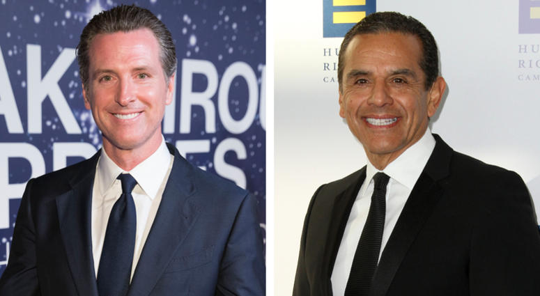 Gavin Newsom and Antonio Villaraigosa