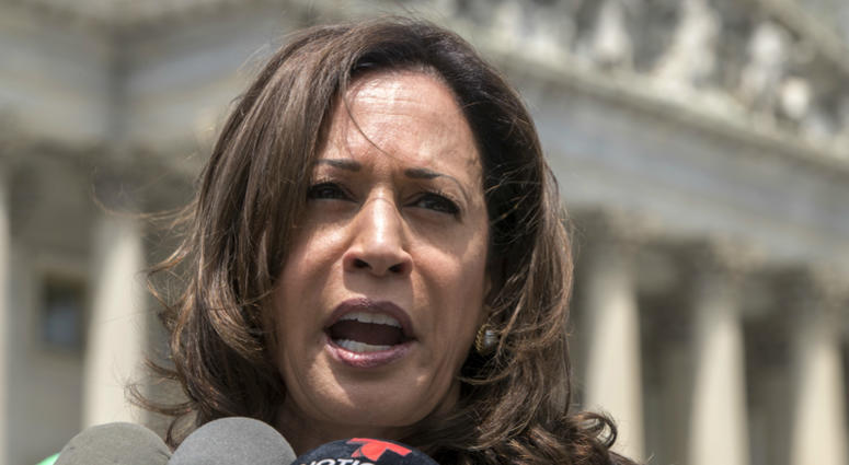 An aide to Sen. Kamala Harris says fake accounts regularly pop up on Facebook that seek to spread false information about the California senator.