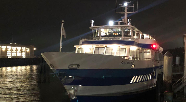 The Coast Guard is investigating the cause of a Golden Gate Ferry crash that injured two people at the San Francisco Ferry Building.