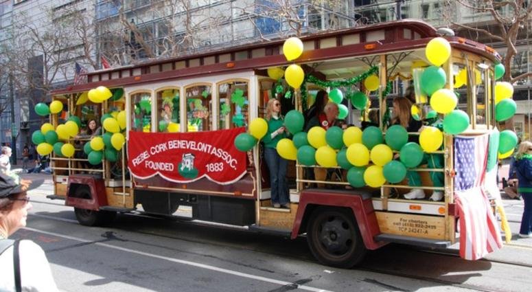 St. Patrick's Day festivities in San Francisco.