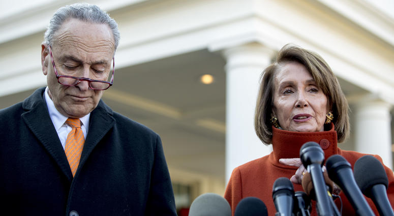 The Latest: Pelosi says for Trump, wall is a 'manhood thing'