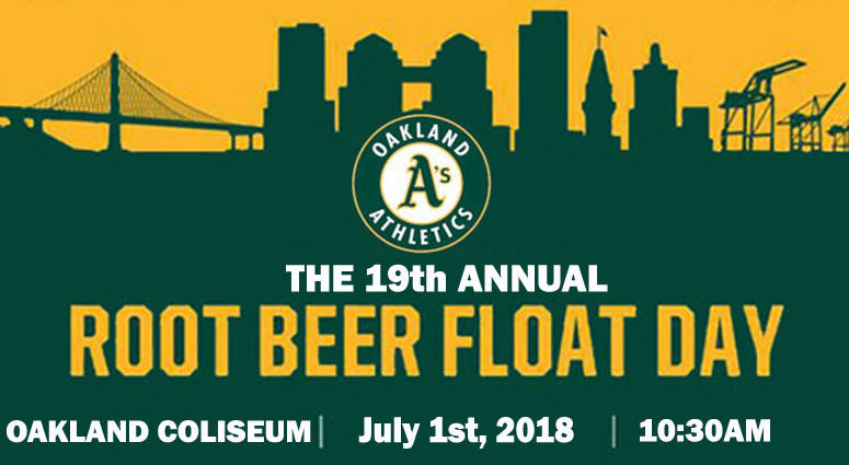 KCBS Radio personalities will be part of the Oakland As annual Root Beer Float Day.