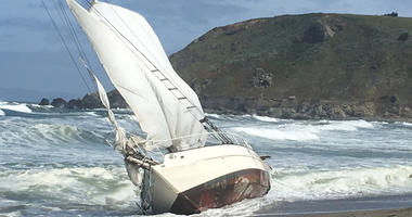 Pacifica Boat Aground