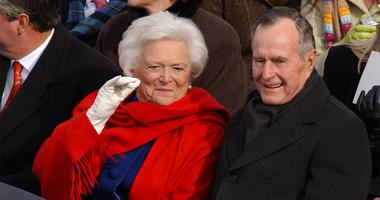 WASHINGTON, D.C.-- Former President George H.W. Bush and his wife, Barbara Bush, during Inauguration ceremonies on the west front of the U.S. Capitol January 20, 2005, in Washington, D.C. (Photo by lde) 2005