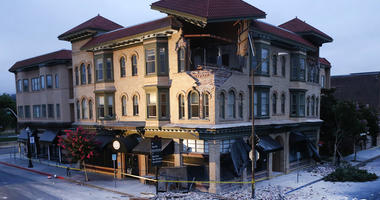 The Alexandria Building in downtown Napa, Calif., was severely damaged by the 6.0 earthquake that struck the Bay Area on Sunday, Aug. 24, 2014.