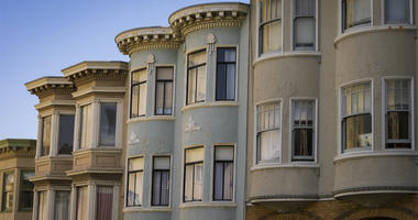 Colorful Victorian apartments in San Francisco