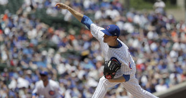 Chicago Cubs starting pitcher Kyle Hendricks