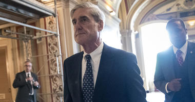 In this June 21, 2017, file photo, Special Counsel Robert Mueller departs after a closed-door meeting with members of the Senate Judiciary Committee about Russian meddling in the election at the Capitol in Washington. A year into his investigation, specia
