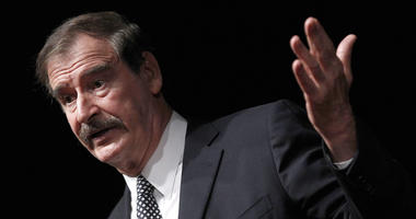In this Oct. 18, 2018, file photo, former Mexican President Mexico Vicente Fox speaks at the CATO Institute in Washington. Former Mexican President Vincente Fox calls himself a soldier in the global campaign to legalize marijuana, and he foresees a day wh