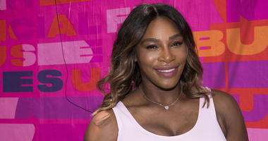 Professional tennis player Serena Williams appears at an event to launch a national street art campaign with Allstate Foundation Purple Purse to make domestic violence and financial abuse visible, at TicTail Market on Wednesday, June 20, 2018, in New York