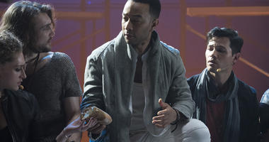 """This image released by NBC shows John Legend as Jesus Christ, center, from the NBC production, """"Jesus Christ Superstar Live In Concert."""" Legend was nominated Thursday for an Emmy for outstanding lead actor in a limited series or movie. The 70th Emmy Award"""