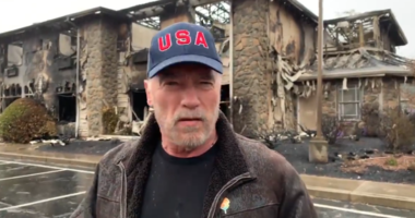 Arnold Schwarzenegger visited firefighters trying to put out the Camp Fire in Butte County
