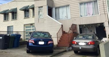 The house where a man was attacked by a dog Monday in Daly City.